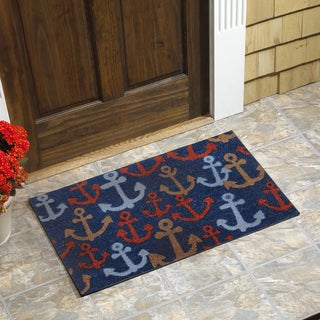 Anchors Vinyl Backed Coir Doormat