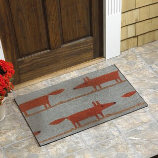 Fox Vinyl Backed Coir Doormat