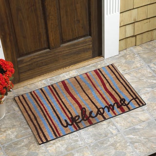 Welcome Strings Vinyl Backed Coir Door Mat
