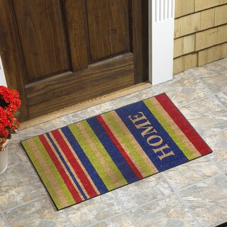 Home Stripes Vinyl Backed Coir Door Mat