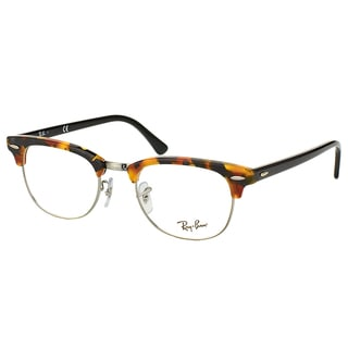 Ray-Ban Clubmaster RX 5154 5491 Black Havana And Gunmetal Clubmaster Plastic 49mm Eyeglasses