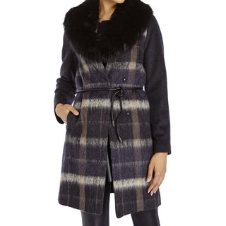 Vera Wang 'Sophie' Women's Plaid Coat