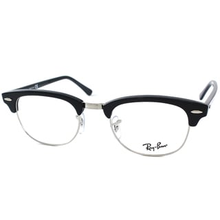 Ray-Ban RX 5154 2000 Shiny Black And Silver Clubmaster Plastic 51mm Eyeglasses