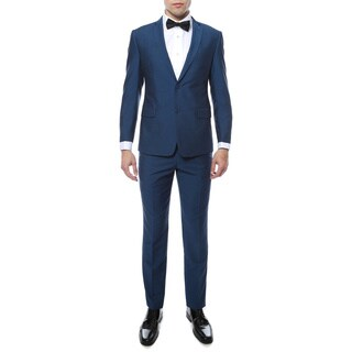 Zonettie Men's Hudson Viscose-blend Slim-fit 2-piece Suit (More options available)