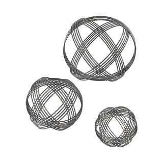 Dimond Home Warp Wall Decor in Soldered Raw Iron - Set of 3