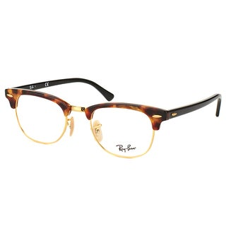 Ray-Ban Clubmaster RX 5154 5494 Brown Havana And Gold Clubmaster Plastic 49mm Eyeglasses