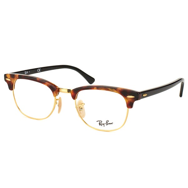 a609b262d Ray-Ban Clubmaster RX 5154 5494 Brown Havana And Gold Clubmaster Plastic  49mm Eyeglasses