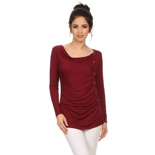 Link to MOA Collection Women's Button Trim Top Similar Items in Athletic Clothing