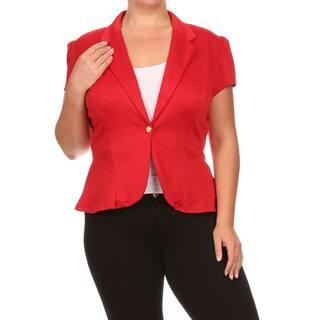 MOA Collection Plus Women's Blazer Jacket https://ak1.ostkcdn.com/images/products/11489854/P18442998.jpg?impolicy=medium
