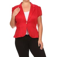 MOA Collection Plus Women's Blazer Jacket