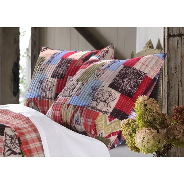Greenland Home Fashions  Rustic Lodge Pillow Sham Set