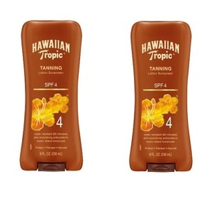 Hawaiian Tropic 8-ounce Sunscreen Protective Dark Tannning SPF 4 Sunscreen Lotion