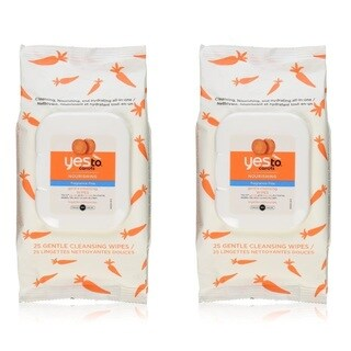 Yes To Carrots Fragrance-Free Gentle Cleansing Wipes (25 Count)