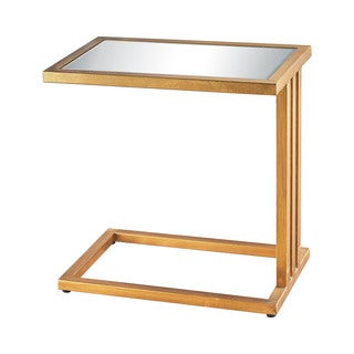 Dimond Home Andy Side Table in Gold Leaf and Clear Mirror