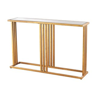 Dimond Home Andy Console in Gold Leaf and Clear Mirror