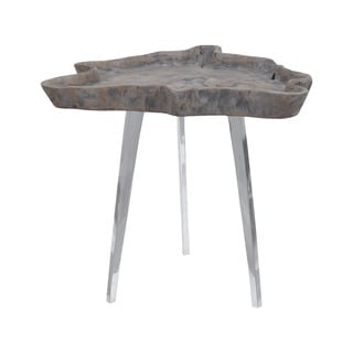 Dimond Home Jambi Accent Table in Aged Grey Wash