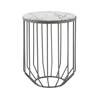 Dimond Home Helm Accent Table in Zinc