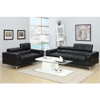 Pomezia Loveseat and Sofa Upholstered in Bonded Leather