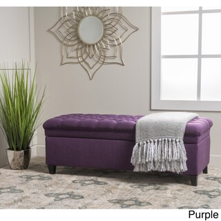 Christopher Knight Home Hastings Tufted Fabric Storage Ottoman Bench (Option: Purple)