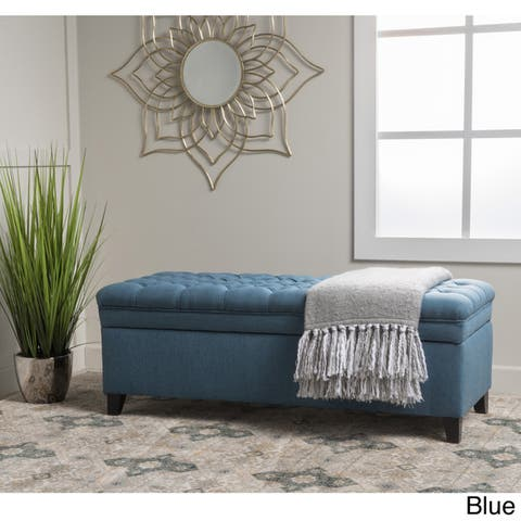 8a78fd4694c09 Buy Blue, Rectangle Ottomans & Storage Ottomans Online at Overstock ...