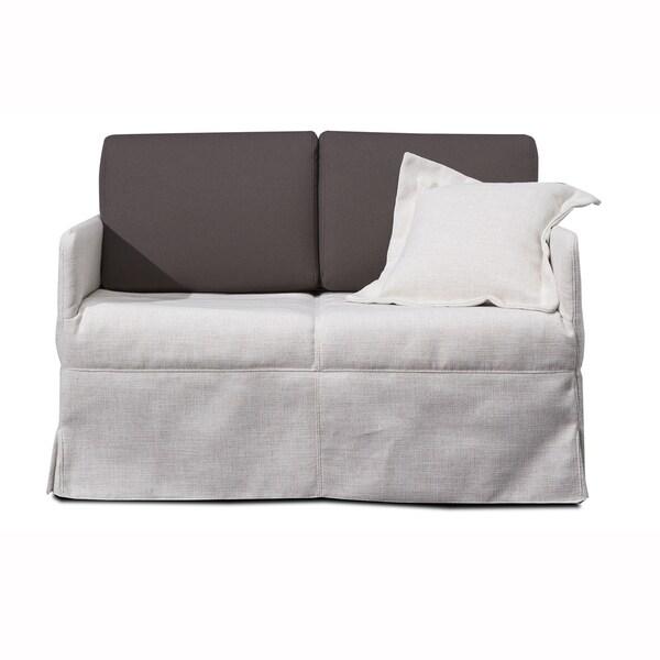 Adele Cream Microfiber Convertible Sofa