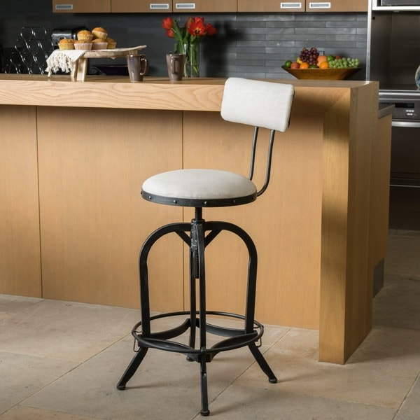Stirling 29-inch Adjustable Backed Barstool by Christopher Knight Home. Opens flyout.