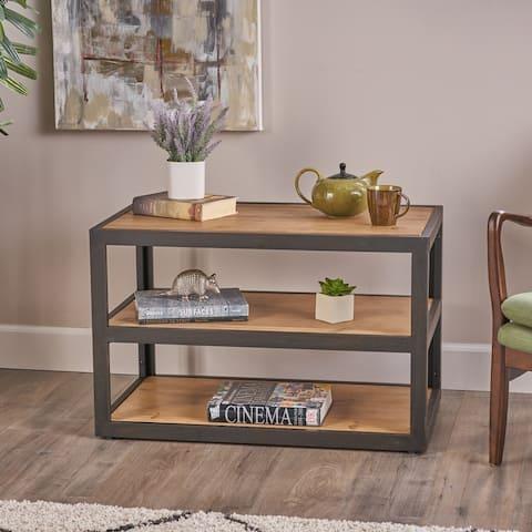 Winsten Monder Industrial Fir Wood Side Shelf by Christopher Knight Home