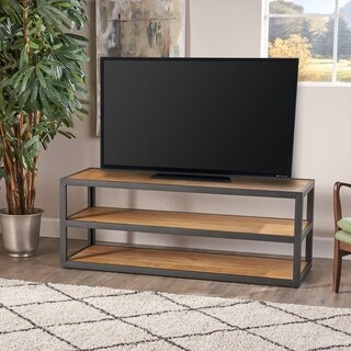 Perth 3-Shelf Industrial Entertainment TV Console Stand with Shelf by Christopher Knight Home