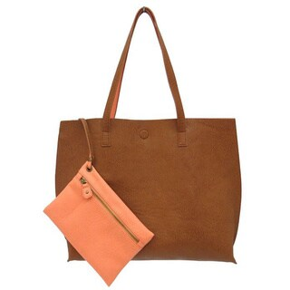 Synthetic Leather 19-inch Reversible Tote Bag