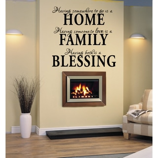 Link to Home Family Blessing statement Wall Art Sticker Decal Similar Items in Vinyl Wall Art