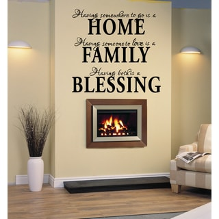 Home Family Blessing Statement Wall Art Sticker Decal