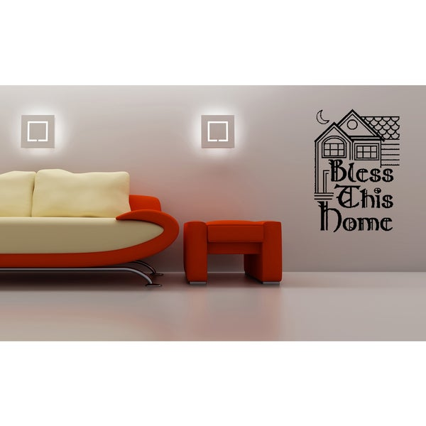 Shop Bless This Home quote Beautiful house Wall Art Sticker Decal ...