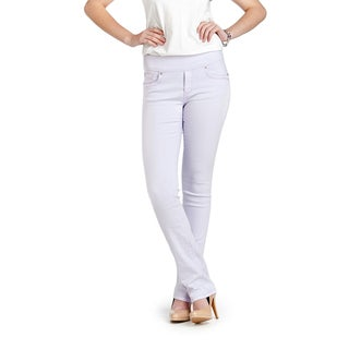 Bluberry Women's Lavender Straight Cut Denim Jeans