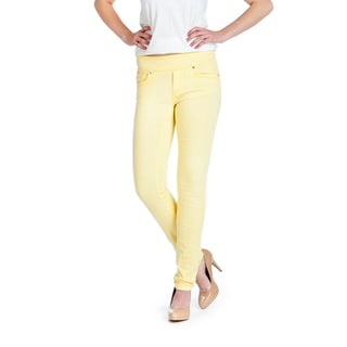 Bluberry Women's Mellow Yellow Skinny Jeans
