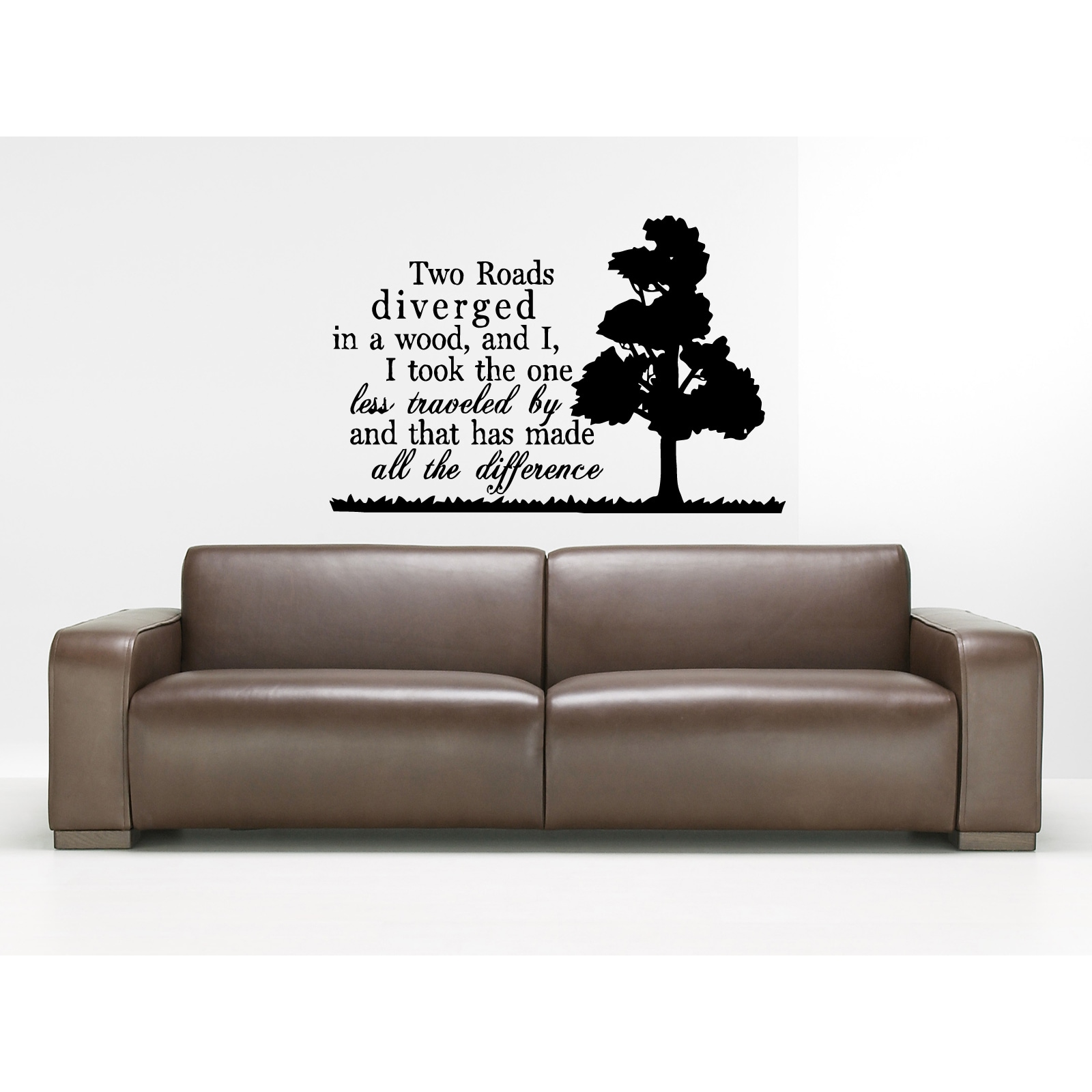 The Road Less Traveled quote Wall Art Sticker Decal (22 i...