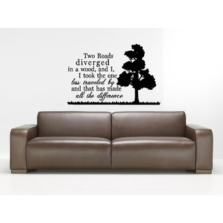 The Road Less Traveled quote Wall Art Sticker Decal