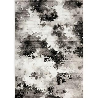 Plait Black/ Grey Airbrush Rug (7'10 x 10'6)