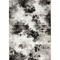 Plait Black/ Grey Airbrush Rug (7'10 x 10'6)