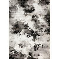 Plait Black/ Grey Airbrush Rug - 7'10 x 10'6