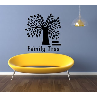 Inscription Family Tree Wall Art Sticker Decal