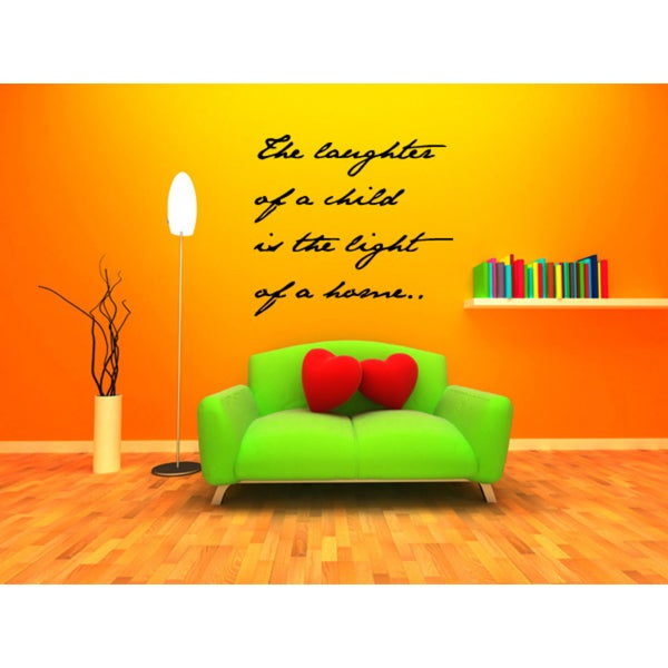 Shop A Child\'s Laughter Lights a Home quote Wall Art Sticker Decal ...