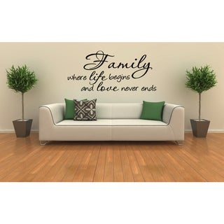 Link to Family Life and Love statement Wall Art Sticker Decal Similar Items in Vinyl Wall Art