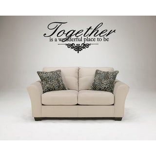 Together Is a Wonderful statement Wall Art Sticker Decal
