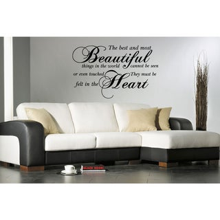 Link to Stickalz 'Most Beautiful Things' Quote Wall Art Sticker Decal Similar Items in Vinyl Wall Art