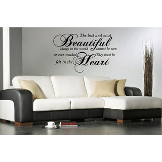 Most Beautiful Things Quote Wall Art Sticker Decal Part 79