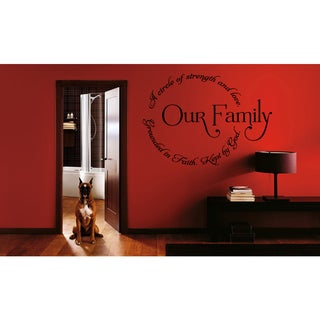 Our Family Circle quote Wall Art Sticker Decal