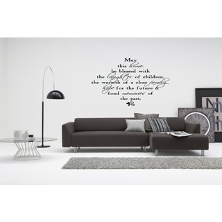 May This Home be Blessed quote Wall Art Sticker Decal