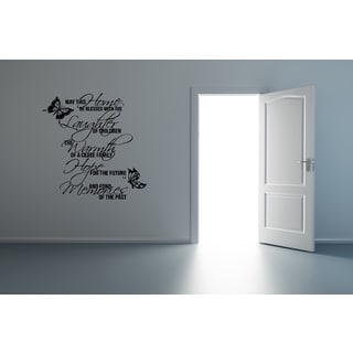 May This Home be Blessed Butterflies Wall Art Sticker Decal