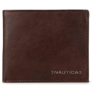 Nautica Men's Genuine Leather Bifold Passcase Wallet