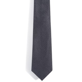 Davidoff 100-percent Silk Grey Grid 3-inch Wide Neck Tie